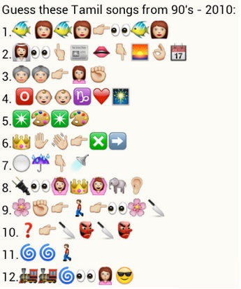 Guess Tamil films from 90's – 2010 whatsapp puzzle