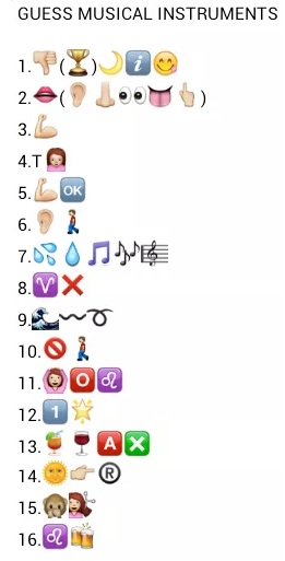 Guess 16 Musical Instruments