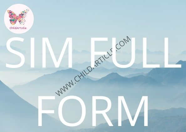 SIM Full Form   ChildArticle