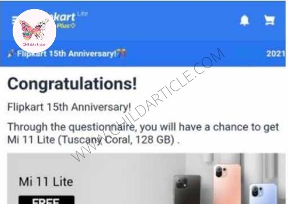 Flipkart 15th Anniversary Link Review, Real Or Fake | ChildArticle