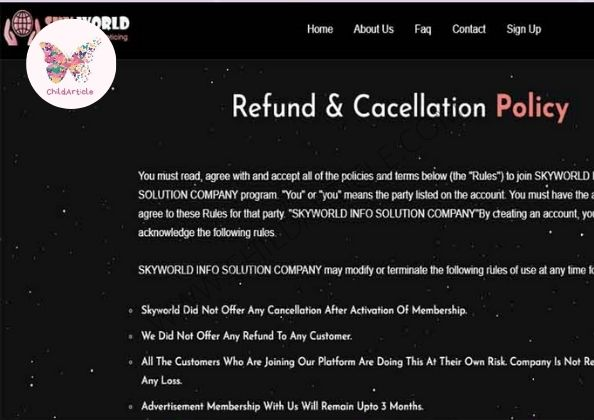 Skyworld.live Review, Real Or Fake, Wiki, Contact Number | ChildArticle